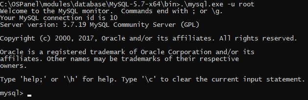 Консольный интерфейс MySQL-клиента