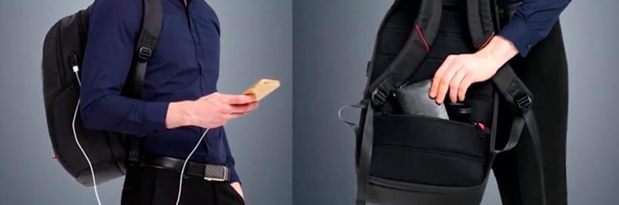 Рюкзак Кингсонс с usb-портом и защитой от краж