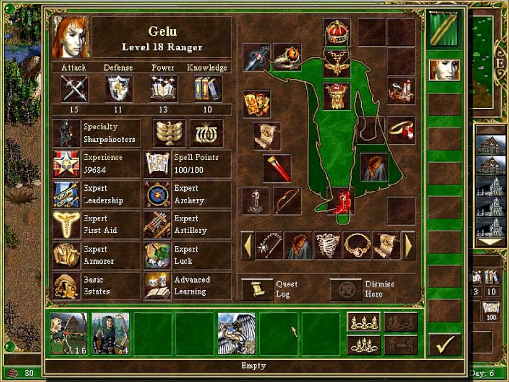 В игре Герои меча и магии можно очень много всего собирать и копить