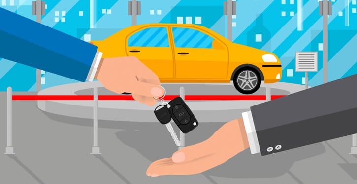 Иллюстрация покупки машины