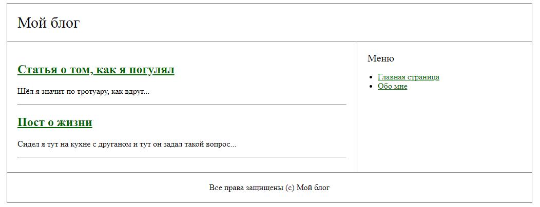 Вывод статей-объектов